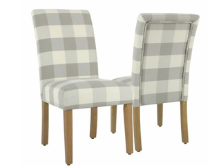 Gray Plaid Dining Chairs  2   D3