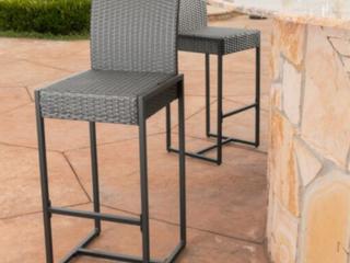 Conway Outdoor Wicker Barstool  set of 2   D3