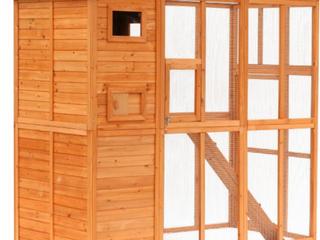 Pawhut Wooden Cat Enclosure Catio Cage  D3