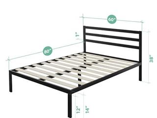 14 in Platform Metal Bed Frame  Queen   E1