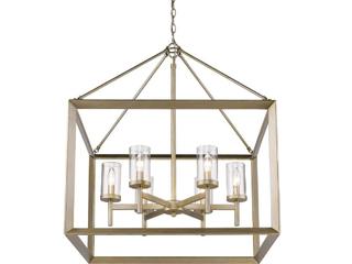 Golden lighting 6 light Chandelier in White Gold  E1