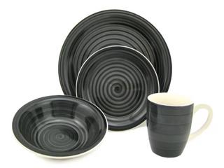 Swirl 16 Piece Dinnerware Set  E1