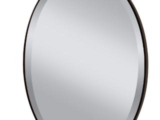 Oval Mirror in Oil Rubbed Bronze Finish  E2