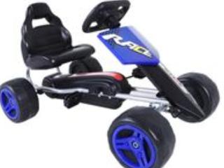 Aosom Kids Pedal Powered Metal Go Kart Racer  A2
