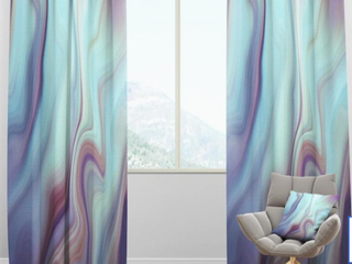 DesignArt Marbled liquid Agates Color Curtains  2   A2