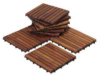 Bare Decor U Snap Interlocking Wood Floor tiles  9 slats   A2