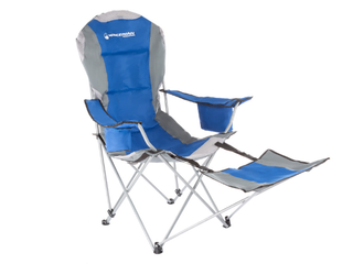 Camp Chair With Footrest  Blue  A2