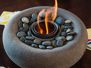 ZenFire Bowl With Fuel Graphite  A2