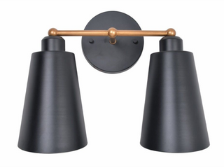 Kenroy Home Brady 12 inch Matte Black with Gold  A3