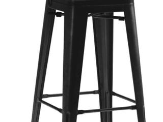 Matte Black Steel Barstool  2 in box   B1