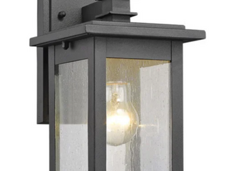 Chloe Transitional 1 light Black Outdoor Wall lantern  A1