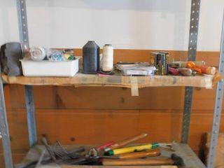 4 Shelves of Garage Items