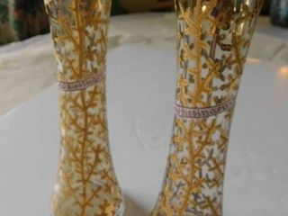 Antique 1840 German Vases  pair