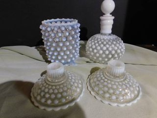 Vintage Bubble Glass Vanity Set
