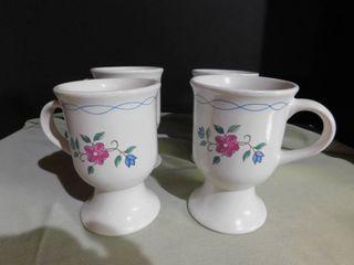 Footed Coffee Mugs