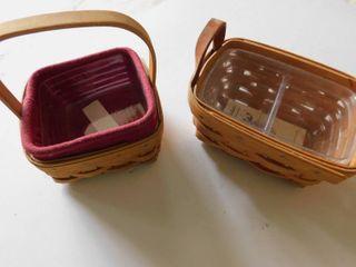 longaberger Baskets  2 ea