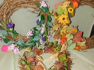 Seasonal Wreaths  Easter  Winter   Fall   3 ea