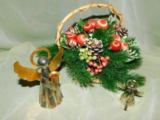 Christmas Basket   Angels