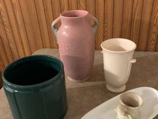 Assorted vases and flower pots