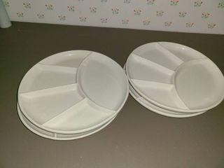 4 Relish Plates
