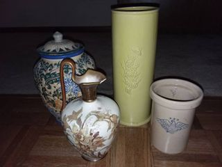 Urns and Pitcher lot of 4