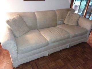 Creme Color Upholstered Couch