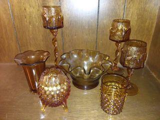 Amber Glass lot of 7