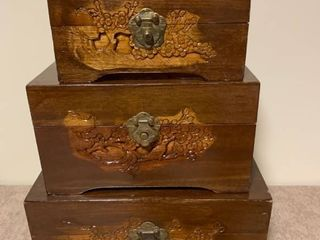 Wooden storage nesting boxes