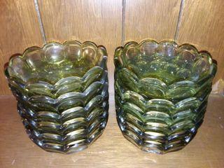 Emerald Glass Bowls lot of 12