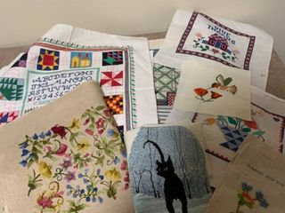 Embroidery and Crosstitch hangings