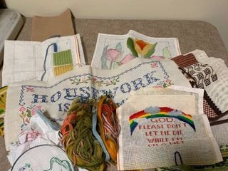 Assortment of needle Craft work