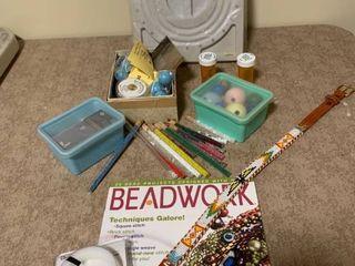 Assorted beadwork items