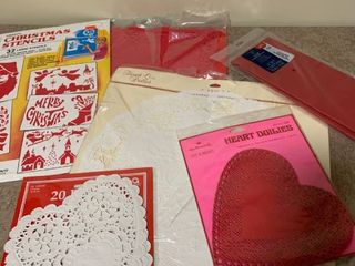 Assorted doilies and stencils