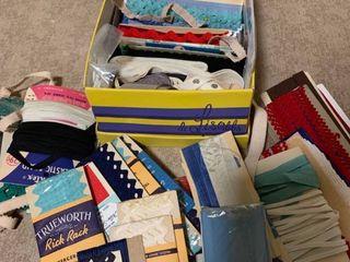 Assorted bindings and elastic