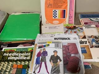 Assorted patterns and craft books