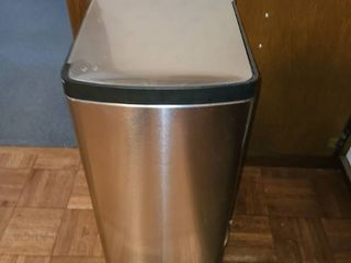 Chrome Trash Can  Approximately 2Ft  Tall