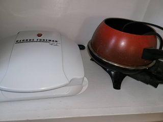 George Foreman Grill and a Fondu Pot