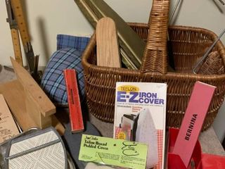 Taylor boards and ironing accessories With basket