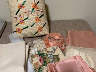 Miscellaneous fabric pieces with bag