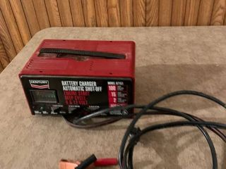 Battery charger automatic shut off six and 12 V