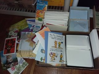 Assorted Greeting Cards and Envelopes