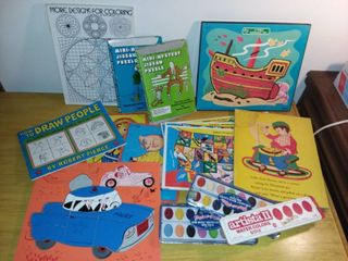 Various Childrens Puzzles and Coloring Books