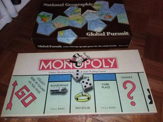 Monopoly and Global Pursuit Board Games