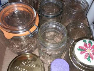 Various Glass Jars