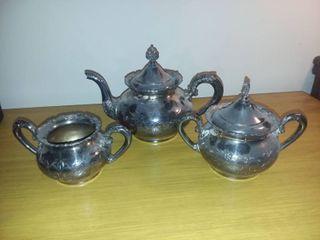Silverplate Tea Set 3 Pieces