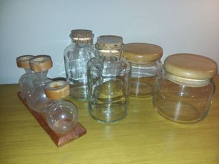Glass Jars with lids and Corks