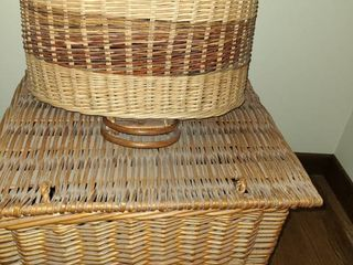 2 Wicker Baskets  Approximately 14  tall