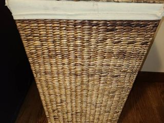 Wicker Hamper  Approximately 2 ft  tall