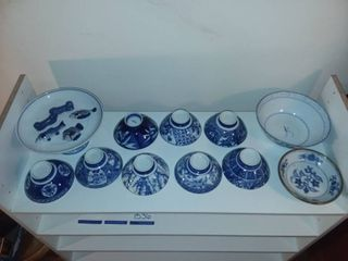 Blue and White Asian China