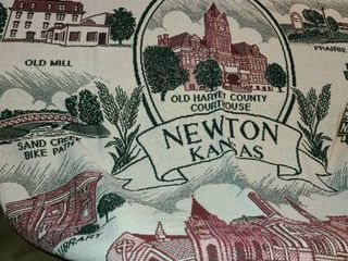 NEWTON KANSAS Tapestry  Approximately 51 x 73